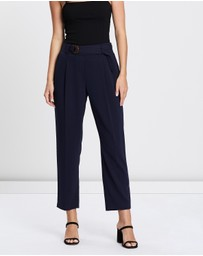 Tie Waist Crepe Trousers