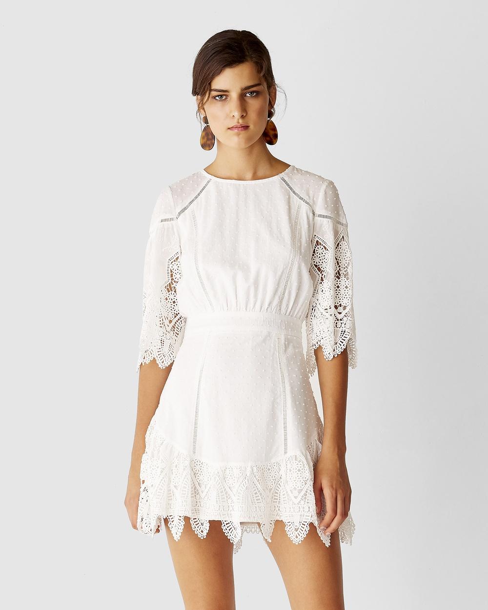 Suboo White Babylon Mini Dress