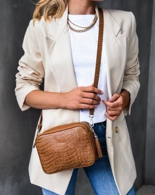 Jo Mercer Hartley Cross Body Bag - Handbags (TAN CROC)