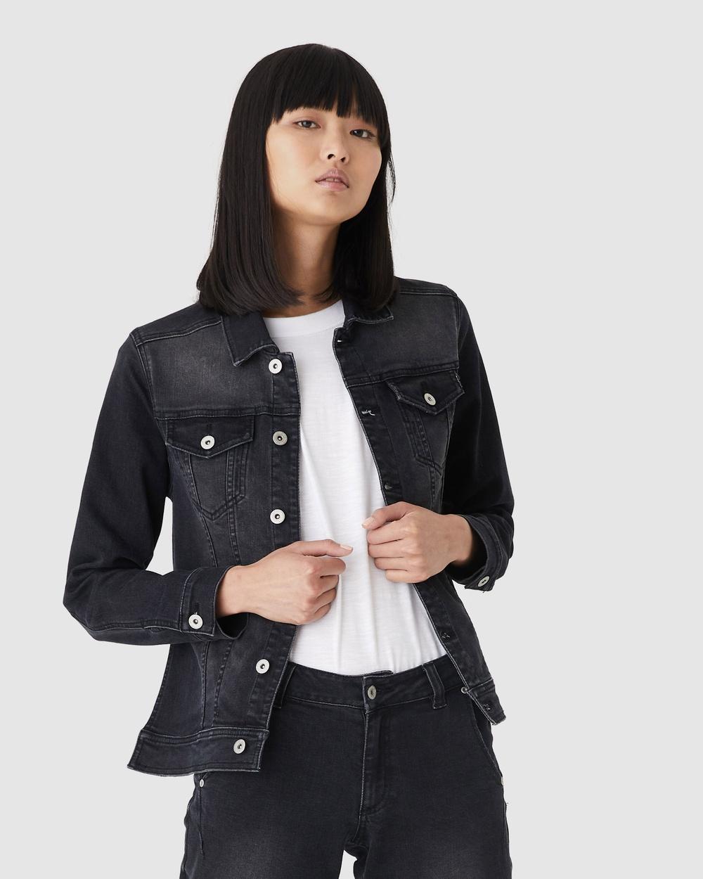 Jac & Mooki Preston Jacket Denim jacket black wash Australia