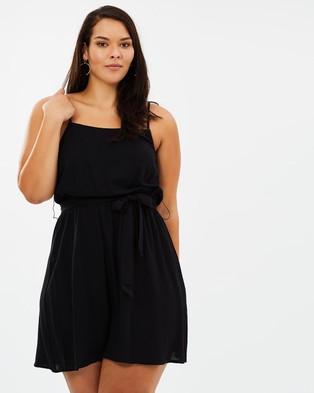 Atmos & Here Curvy – Aria Rayon Dress Black