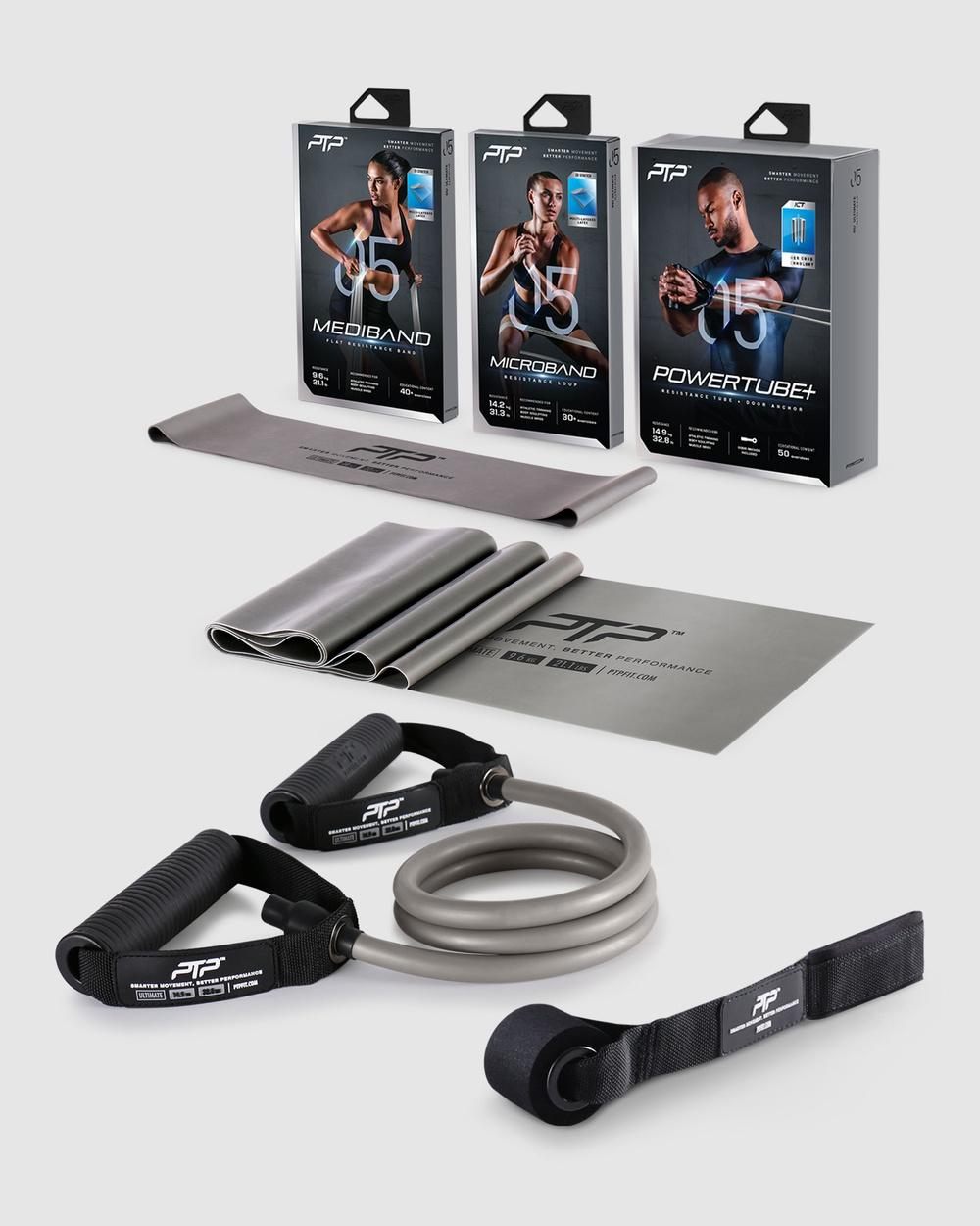 PTP Resistance Pack Level 5 MediBand + MicroBand PowerTube+ Novelty Gifts Grey