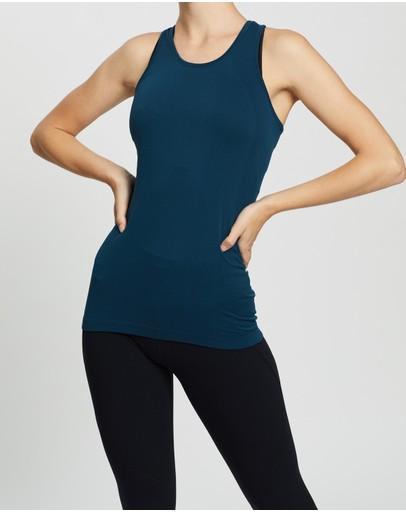 Sweaty Betty Athlete Seamless Workout Vest Beetle Blue