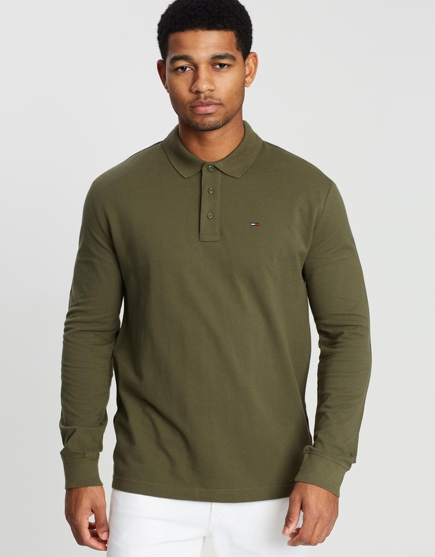 Essential Long Sleeve Polo by Tommy Jeans