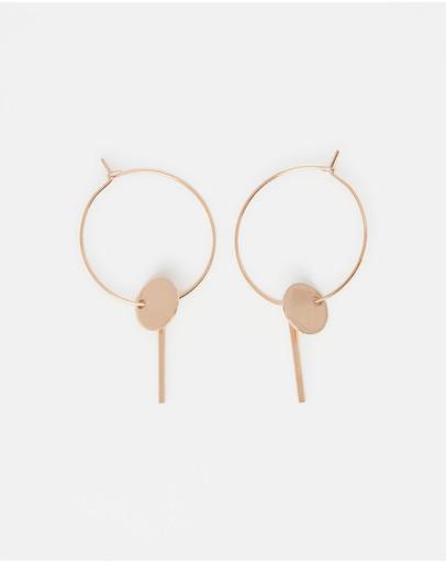 Pastiche Desert Moon Earrings Rose Gold