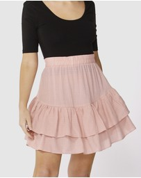 Sass - Ruffle Check Skirt