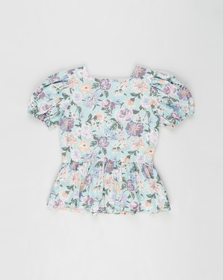 Free by Cotton On Shiloh Puff Sleeve Top   Teens - Tops (Chutney & Coastal Floral)