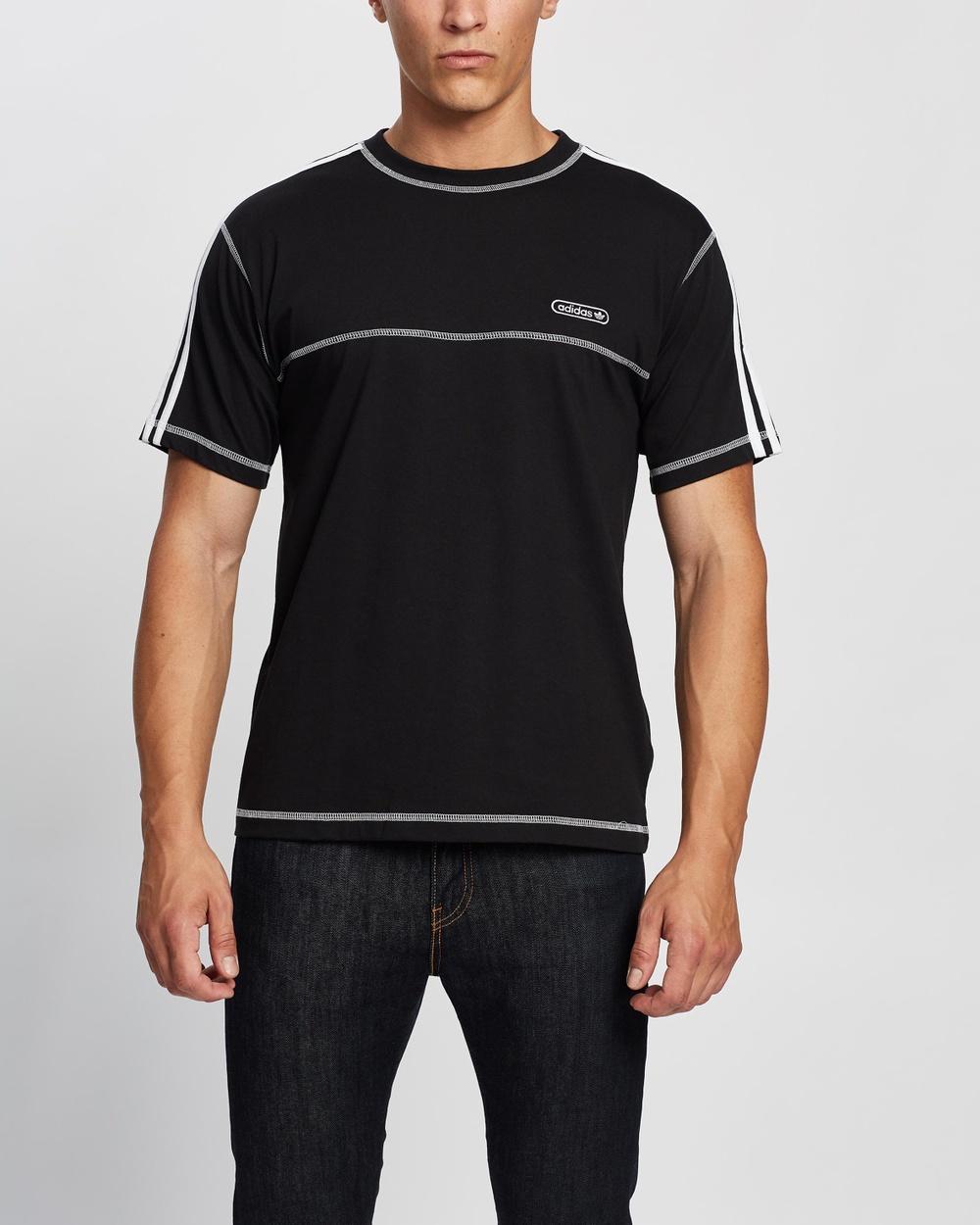 adidas Originals Contrast Stitch Tee T-Shirts & Singlets Black