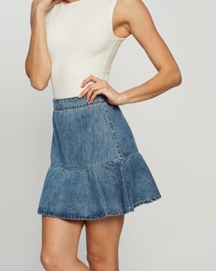 All About Eve Havana Flippy Denim Skirt - Denim skirts (BLEACH)