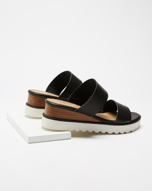SPURR Caleb Comfort Wedges - Wedges (Black Smooth)