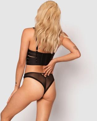 Bras N Things Vamp Myla Brazilian Knicker - Briefs (Black)