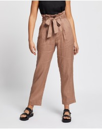 AERE - Belted Linen Pants