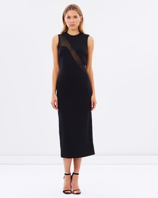 Naked Official – Cut Out Mesh Dress – Dresses (Black)