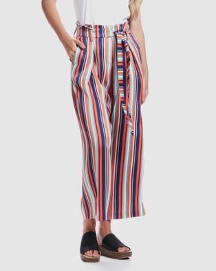 Privilege Parisian Stripe Pants - Pants (Multi Stripe)
