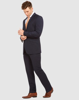 Kelly Country Livorno Slim Fit Navy Suit - Suits & Blazers (Blue)