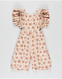 Dukes and Duchesses Apparel - Sunflower Isabel Overalls - Babies-Kids