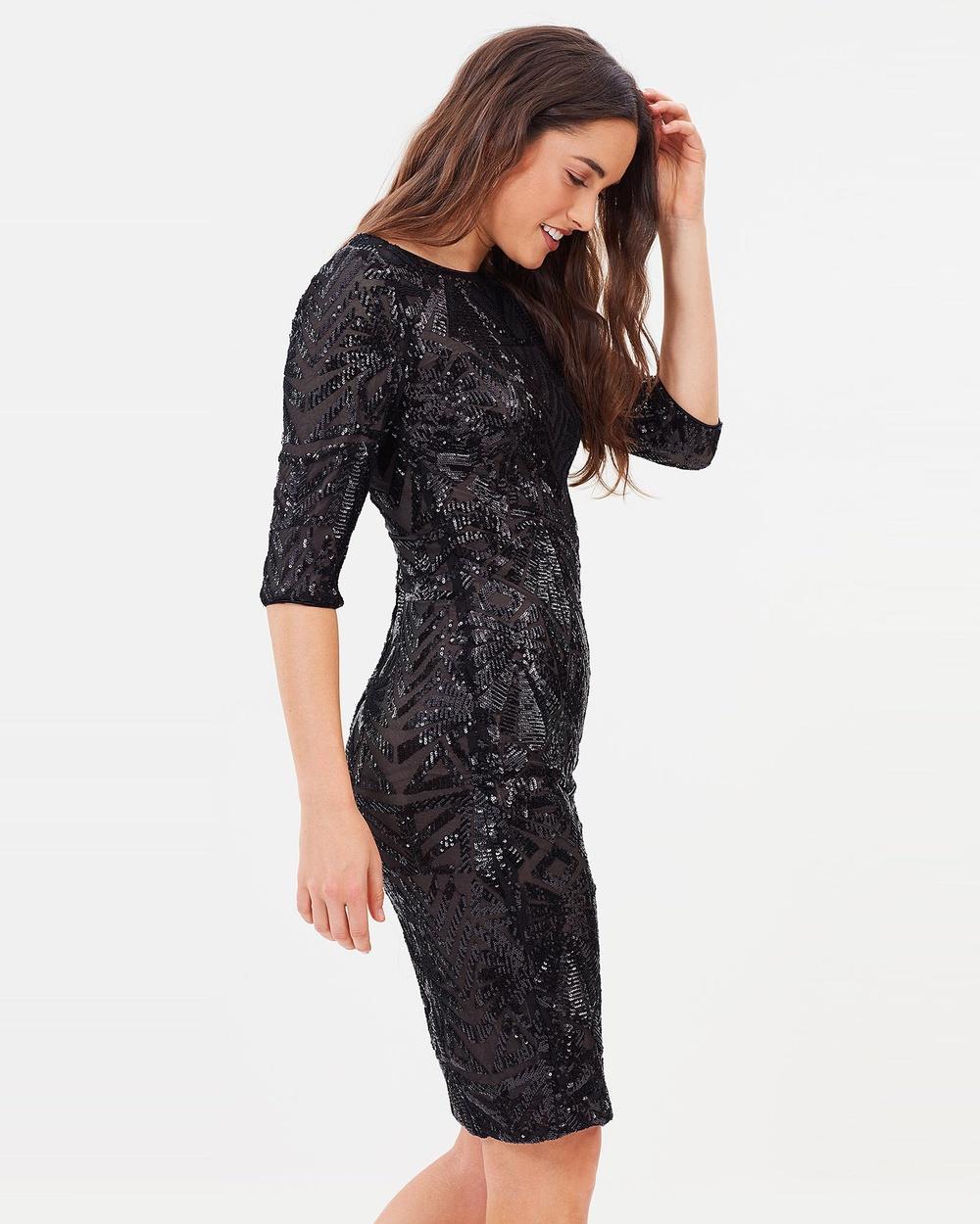 Montique Roxette Sequin Cocktail dress Dresses Black Roxette Sequin Cocktail dress