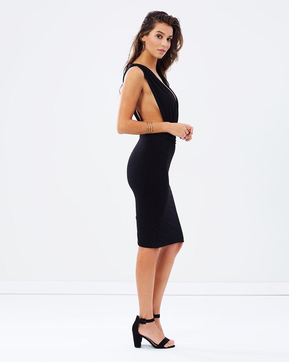 178b2b3c1ec Deep V Cocktail Dress by SKIVA Online