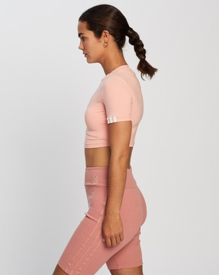 adidas Originals - R.Y.V. Cropped Tee tops (Trace Pink)
