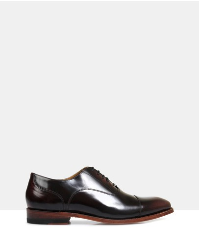 Brando Iver Good Year Welted Oxfords Burgundy