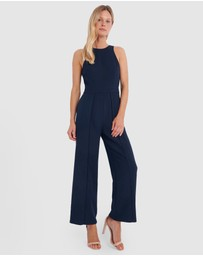 Forcast - Rio Roundneck Panelled Jumpsuit