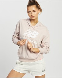 New Balance - NB Essentials Stacked Logo Oversized Pullover Hoodie