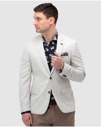 Brooksfield - Linen Blend Textured Blazer