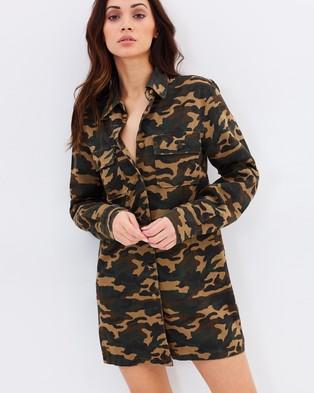Dahli – Regulate Army Shirt Dress Multi