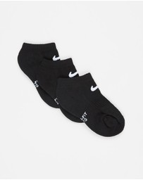 Nike - Performance Cushioned No-Show Socks 3-Pack - Kids