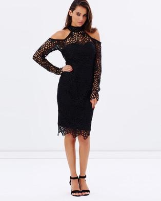 Grace & Hart – Scandal Fitted Midi Dress Black