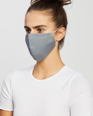 WOOD - Solid Contoured Non Medical Masks Set of Four - Wellness (Grey)