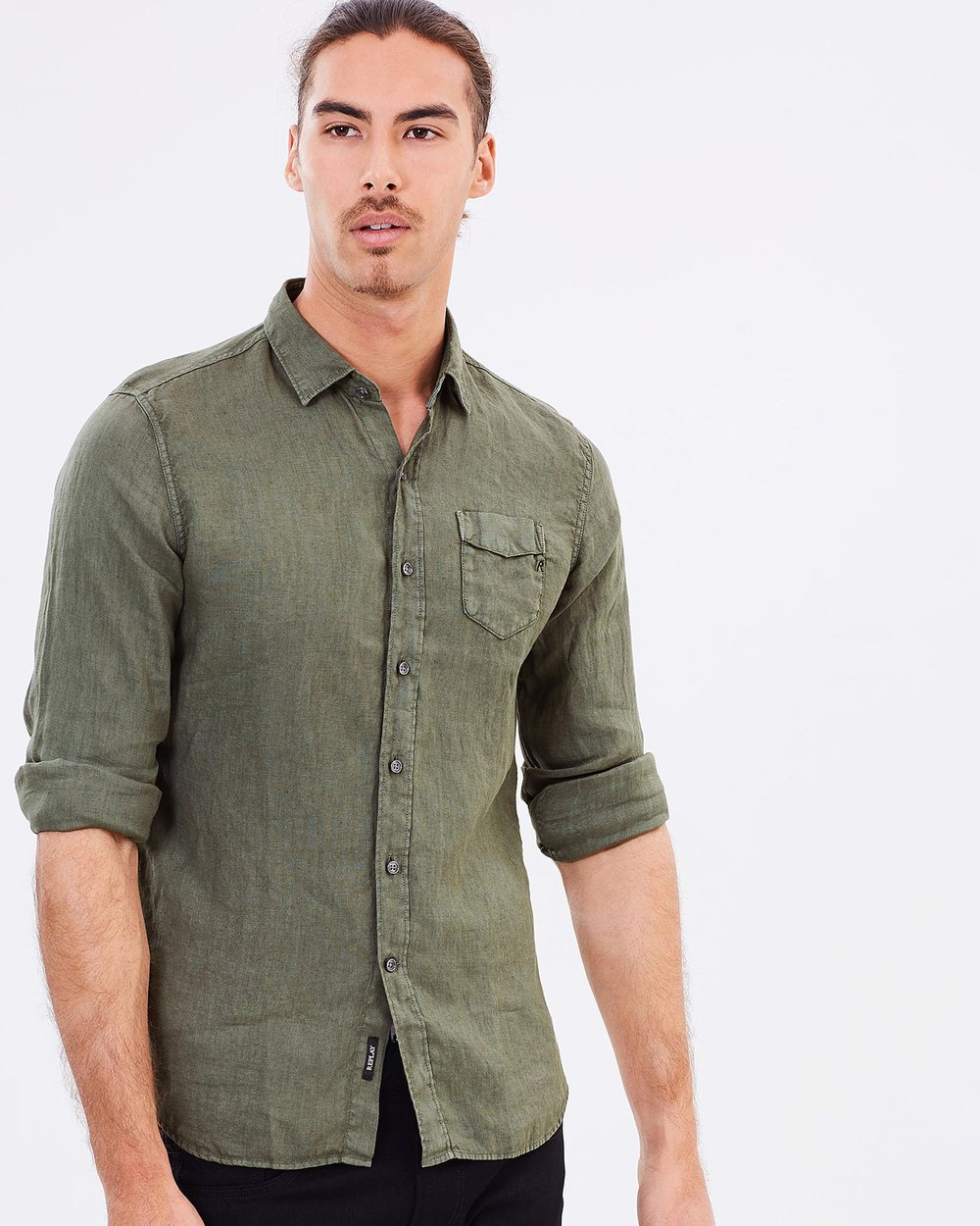 40e19a7d58d Linen Shirt by Replay Online