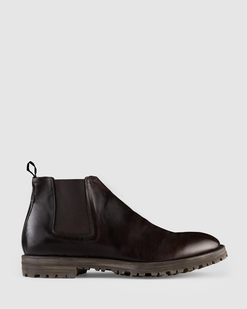 Aquila Zane Chelsea Boots Chocolate