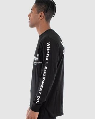 WNDRR - In Line Long Sleeve Tee - Long Sleeve T-Shirts (Black) In Line Long Sleeve Tee