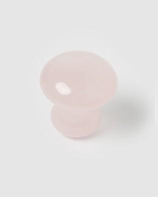 Miz Casa and Co Eye Massage Mushroom Tool - Wellness (Rose Quartz)