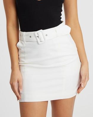 BWLDR Lea Mini Skirt - Skirts (White)