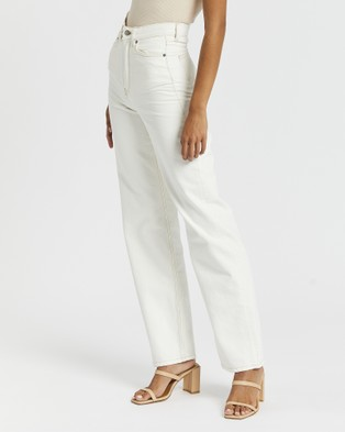 Dr Denim Echo Jeans - High-Waisted (Light Ecru)