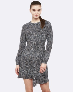 Oxford – Step Up Abstract Print Dress – Dresses (Multi)