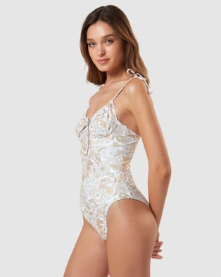 Charlie Holiday - Florence One Piece One-Piece / Swimsuit (Floral Forest Chocolate)