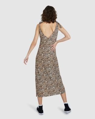 Dont Ask Amanda Aspen Tie Midi Spilt Dress - Dresses (ASSORTED)