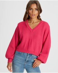 Calli - Carmen V Neck Sweater