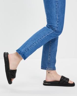ALDO - Acaswen Quilted Slides - Sandals (Black) Acaswen Quilted Slides