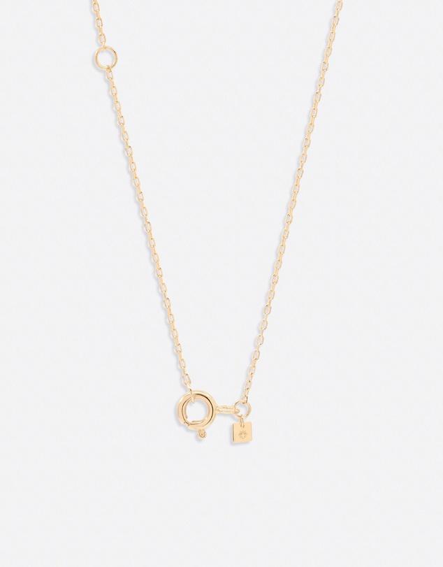 Women 14K Gold Diamond Love Letter S Necklace