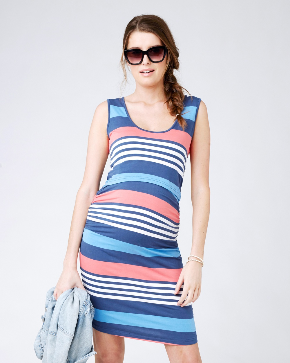 Ripe Maternity Stripe Nursing Dress Bodycon Dresses Maritime Stripe Nursing Dress