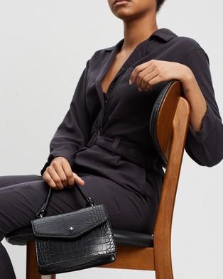 PETA AND JAIN - Anna Mini Top Handle Bag - Bags (Black Croc) Anna Mini Top Handle Bag