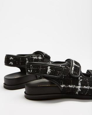 Atmos&Here Zane Tweed Sandals - Sandals (Black Tweed)