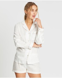 Homebodii - Linen Long Sleeve PJ Set