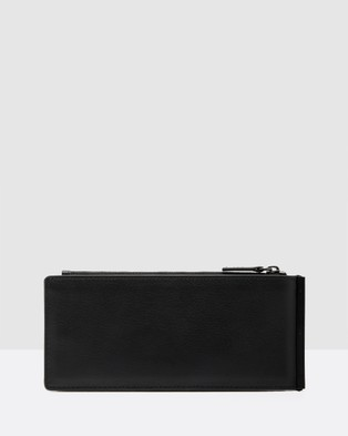 She Lion The Ace Wallet - Clutches (Black and White Matte Croc Embossed)