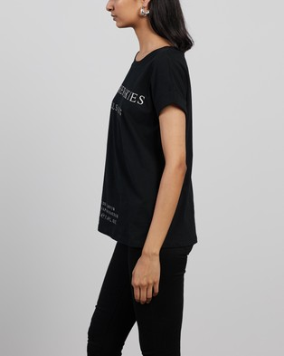 AllSaints - Leather Skies Imogen Boy Tee T-Shirts & Singlets (Black)