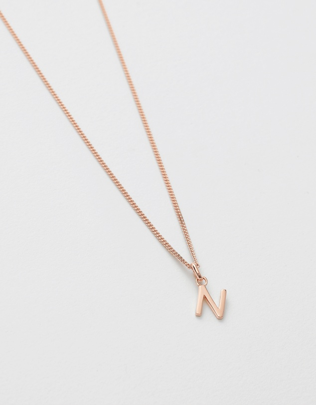 Women N Outline Initial Necklace